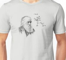 Darwin's thought.. Unisex T-Shirt
