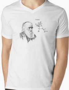 Darwin's thought.. Mens V-Neck T-Shirt