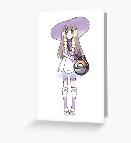 Lillie with Nebby in THE BAG! Greeting Card