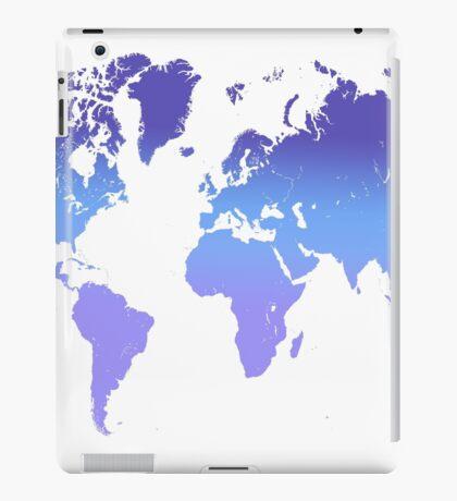 World Map Abstract. Blue Purple iPad Case/Skin