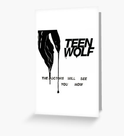 TEEN WOLF COVER Greeting Card