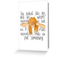 Eleanor and Park - Art Quote Greeting Card