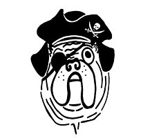 Pirate Pug Dog by imphavok