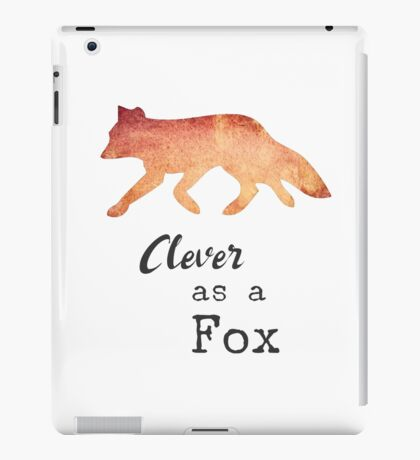 Clever as a Fox by Woodland Doodles iPad Case/Skin