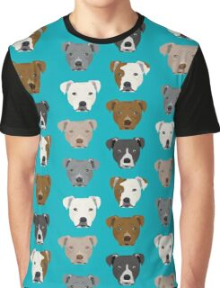 Pitbull faces dog art dog pattern pitbulls cute gifts for rescue dog owners by PetFriendly Graphic T-Shirt