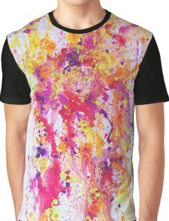 Fire and water - a paint splatter artwork Graphic T-Shirt