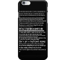 The 1975 Lyrics iPhone Case/Skin