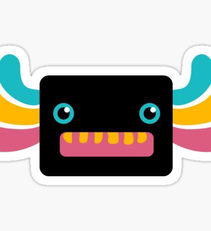 Cute Black and Rainbow Axolotl Sticker