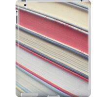 Diagonal red books iPad Case/Skin