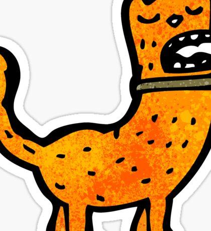 funny cartoon cat Sticker