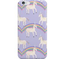 Unicorn Pattern on Pastel Purple iPhone Case/Skin