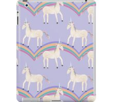 Unicorn Pattern on Pastel Purple iPad Case/Skin