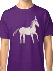 Unicorn Pattern on Pastel Purple Classic T-Shirt