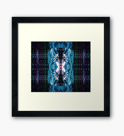 MULTI-COLOURED PALM PARADISE Framed Print