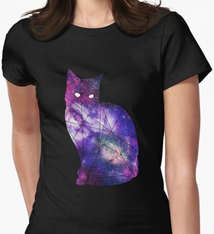 Cat-verse minimal Womens Fitted T-Shirt