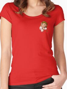 Cute pocket elf girl Women's Fitted Scoop T-Shirt