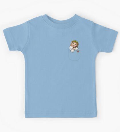 Cute pocket elf girl Kids Tee