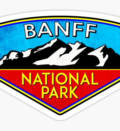 BANFF NATIONAL PARK ALBERTA CANADA Skiing Ski Mountain Mountains Snowboard Boating Hiking 2 Sticker