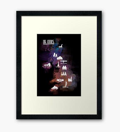 UK Cities Framed Print