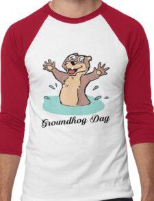 Happy Groundhog Day Canada Men's Baseball ¾ T-Shirt