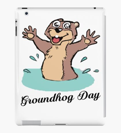Happy Groundhog Day Canada iPad Case/Skin