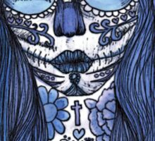 Day of the Dead Mexican Sugar Skull Babe Sticker