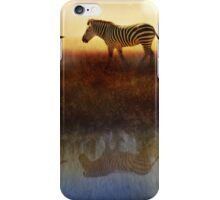 moving north zebras and ibis   iPhone Case/Skin