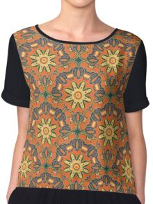 Ethnic ornament mandala pattern Chiffon Top