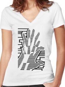 Break out Women's Fitted V-Neck T-Shirt