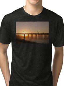 Sunrise Pier Ventura Tri-blend T-Shirt