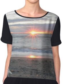 Ocean Sunrise Chiffon Top