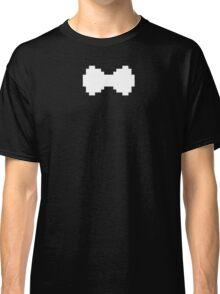 Pixel White Bow Classic T-Shirt