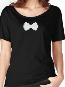 Pixel White Bow Women's Relaxed Fit T-Shirt