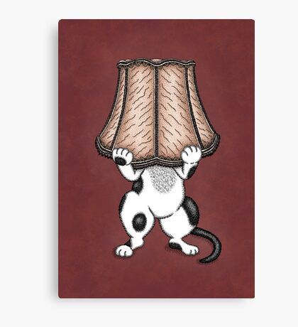 A Very Special Cat Lamp Canvas Print