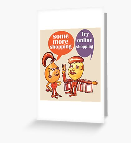 Some more shopping Greeting Card