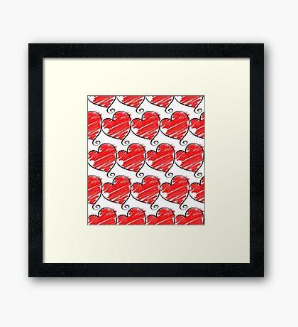 Wallpaper with heart 1 Framed Print