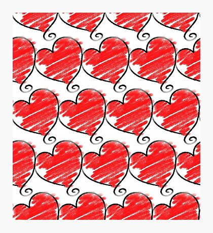 Wallpaper with heart 1 Photographic Print