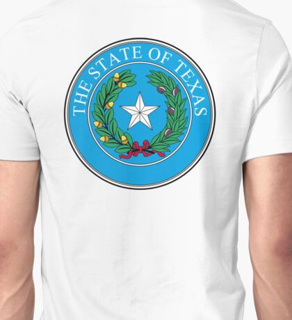 TEXAS, Seal of Texas, State of Texas, America, American, USA, US Unisex T-Shirt