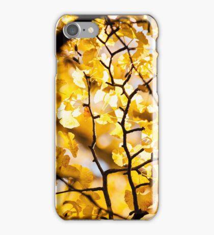 Yellow Japanese Gingko iPhone Case/Skin
