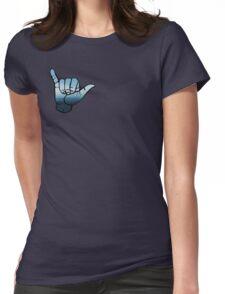 Shaka ASL Waves  Womens Fitted T-Shirt