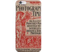 The Photographic Times in Red iPhone Case/Skin