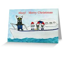 Ahoy! Captain Billy ' Merry Christmas' Greeting Card