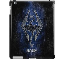 Digital neonlight Dragon rider sign logo iPad Case/Skin