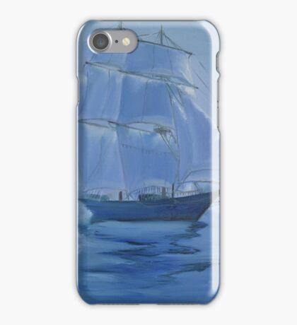 Sailing ship in the fog iPhone Case/Skin