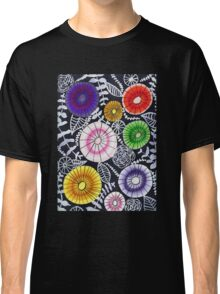Bright Color Starburst Flowers Classic T-Shirt