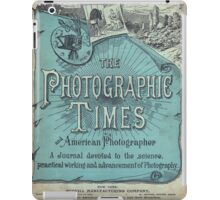 The Photographic Times in Blue iPad Case/Skin