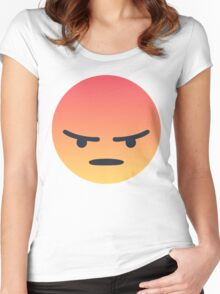 Angry 'Angery' React Face Women's Fitted Scoop T-Shirt