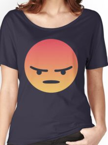 Angry 'Angery' React Face Women's Relaxed Fit T-Shirt