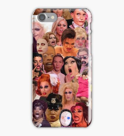 Iconic Drag Queens Collage iPhone Case/Skin