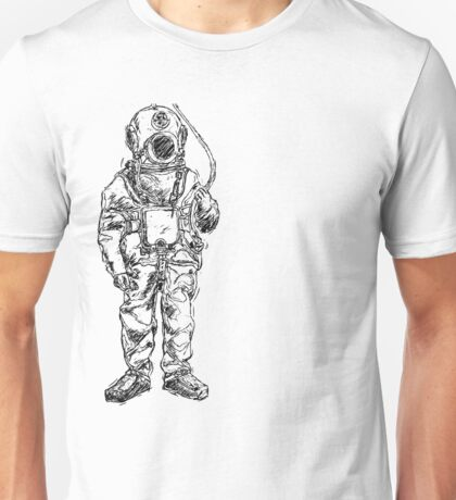 Antique Old Fashioned Ancient Scuba Diver Dry Suit Unisex T-Shirt